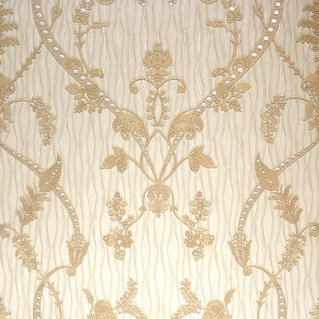 Belgravia Tiffany Lustre Design Wallpaper, Gold 769319