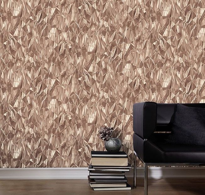 #3D Effect Crushed Crystal Geometric brown/beige #42511-40