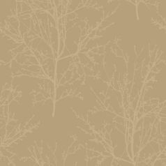 #UK11503 - Peartree Arbour Beads Gold Wallpaper