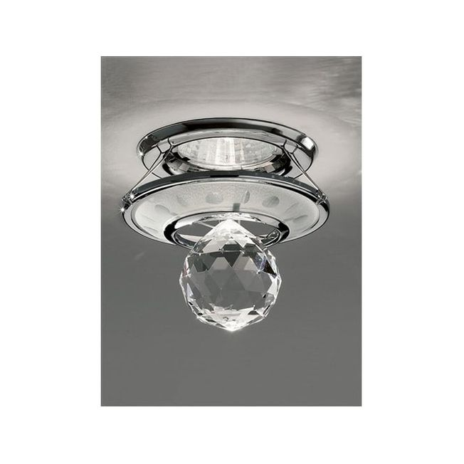 Franklite RF242 Recessed Downlight In Chrome And Crystal