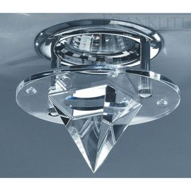 Franklite RF262 round ceiling down light chrome & crystal glass
